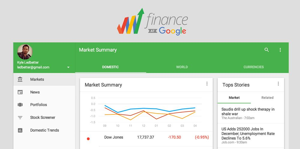 sito google finance