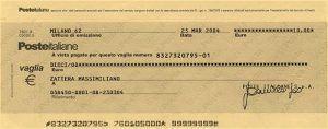 assegno postale circolare