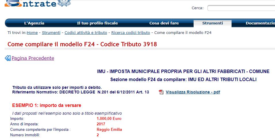 codice 3918