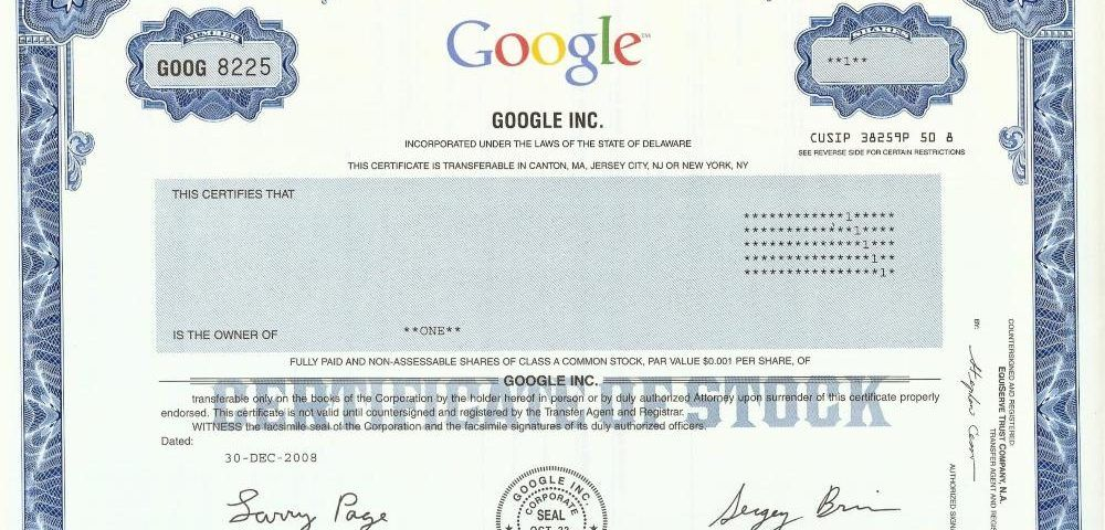 google stock azioni borsa