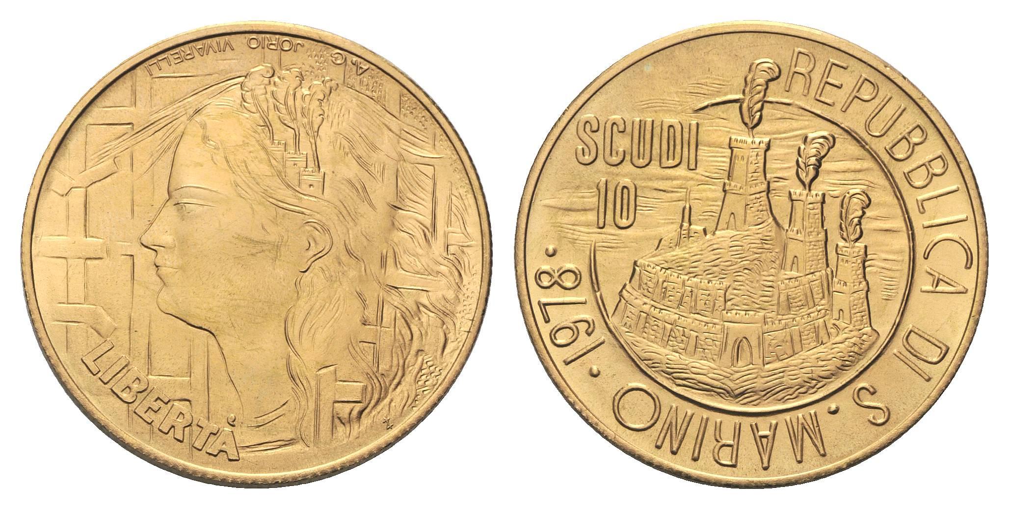 monete oro san marino