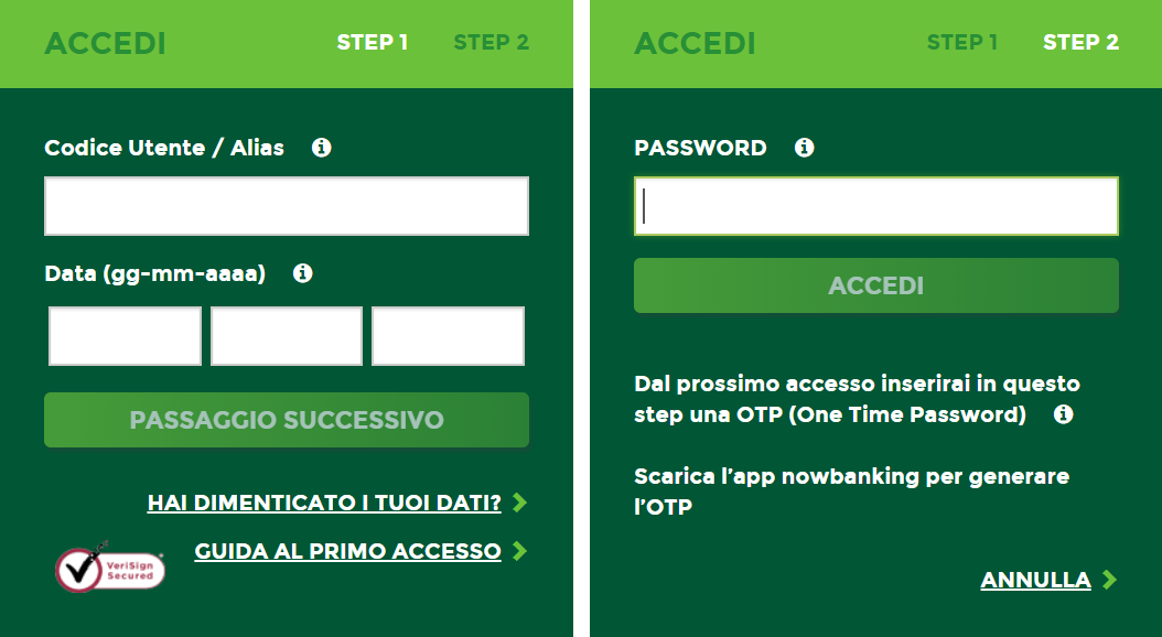 accesso nowbanking