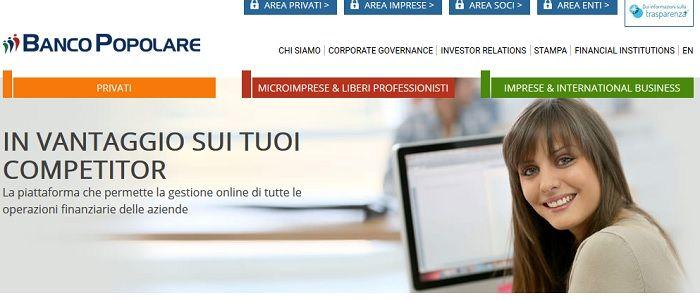 homepage banca popolare