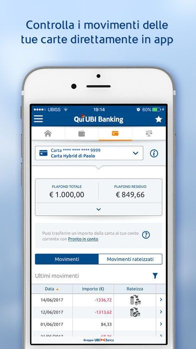 home banking carta hybrid Ubi banca