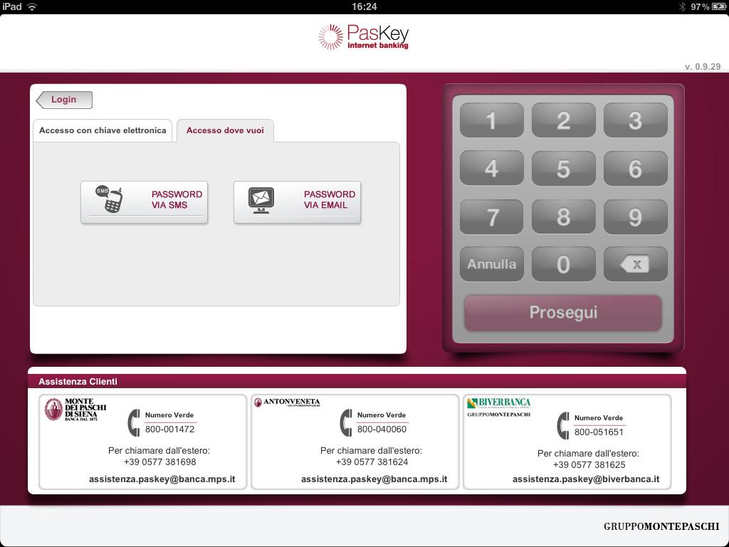 internet banking paskey