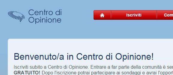 registrazione centro opinione